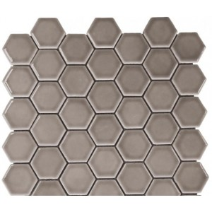 Bars Crystal Ceramic Mosaic Taupe Hexagon 30.15x30.15