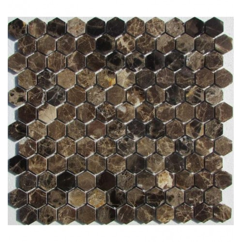 FK Marble Hexagon Emperador Dark 29.5x28