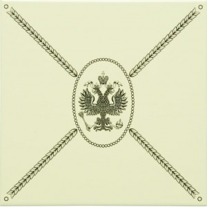 Original Style Artworks Colonial White Cartouche With Eagle 15.2x15.2