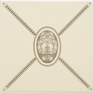 Original Style Artworks Colonial White Cartouche With Egg 15.2x15.2